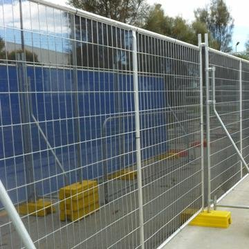 AS 4687 standard 24x21m galvanized temporary fence with plastic feet and clamp for Australia