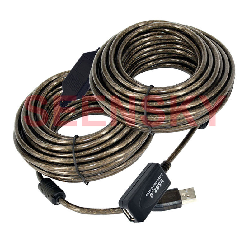 5M 16FT USB 20 Extension cable Computer Printer Connectors Cables Signal Booster A Male to A Female