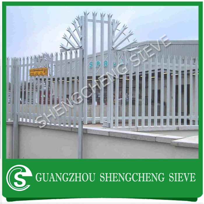 Hot dipped galvanized security steel palisade fencing for sale