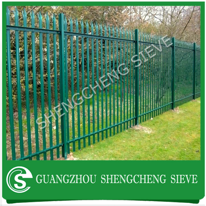 Hot dipped galvanized steel palisade design high security fencing for boundary
