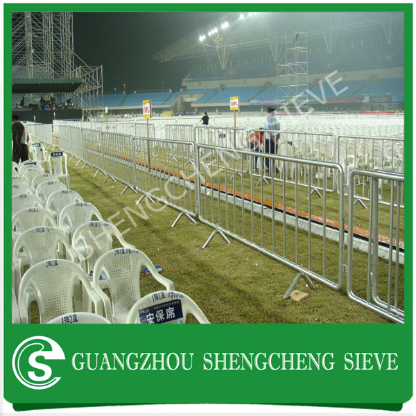 Wholesale heavy temporary construction site barricade crowd control fence