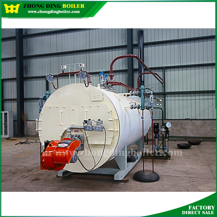 WNS High pressure heavy oil gas industrial 2ton diesel oil steam boiler