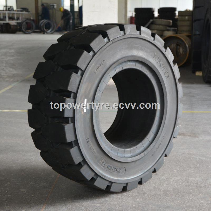3856524 solid forklift tire pneumatic rim solid tyre china