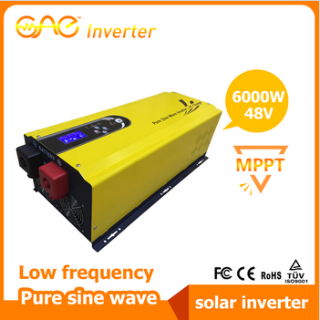 6000W 48V Low frequency pure sine wave solar inverter with built-in MPPT solar charge controller