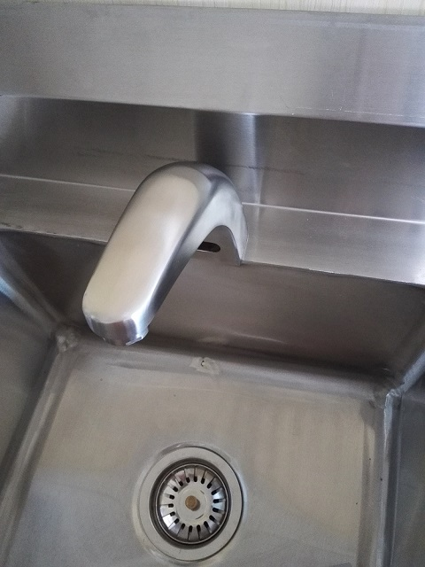 Stainless steel induction faucet
