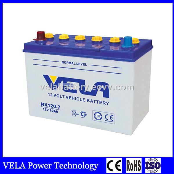 Best Price Nx120 7 12v 80ah Dry Charge Lead Acid Car Battery