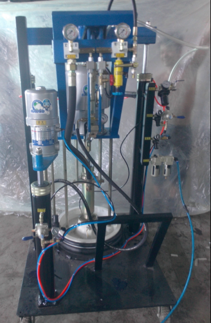 silicone extruder machine for insulating glass two component sealant extruder