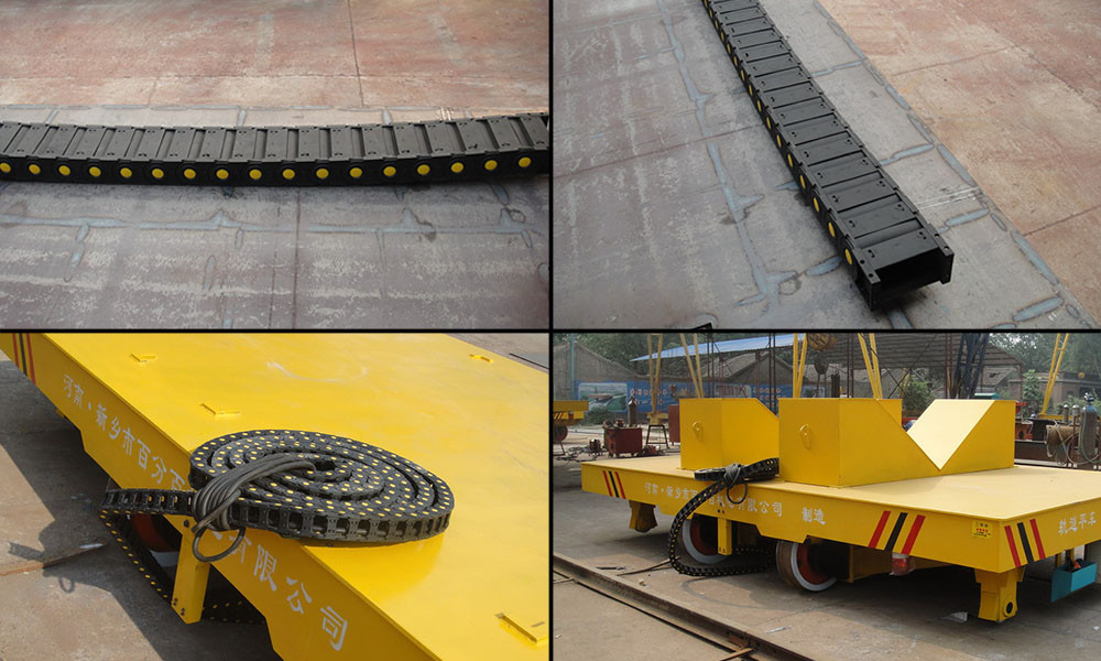Short Distance Four Wheels Large Capacity Rail Transfer Cart For Sale