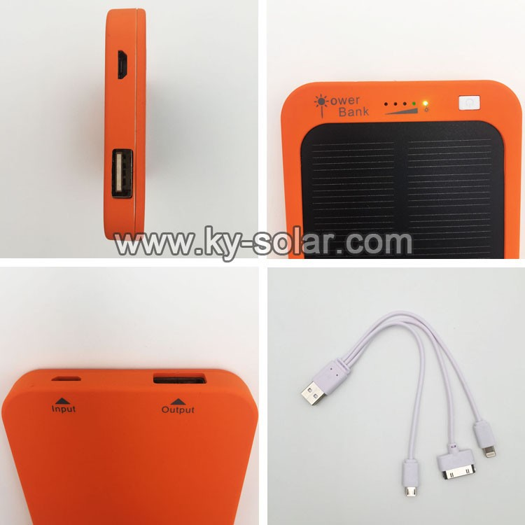 2016 new arrival portable solar power bank solar charger
