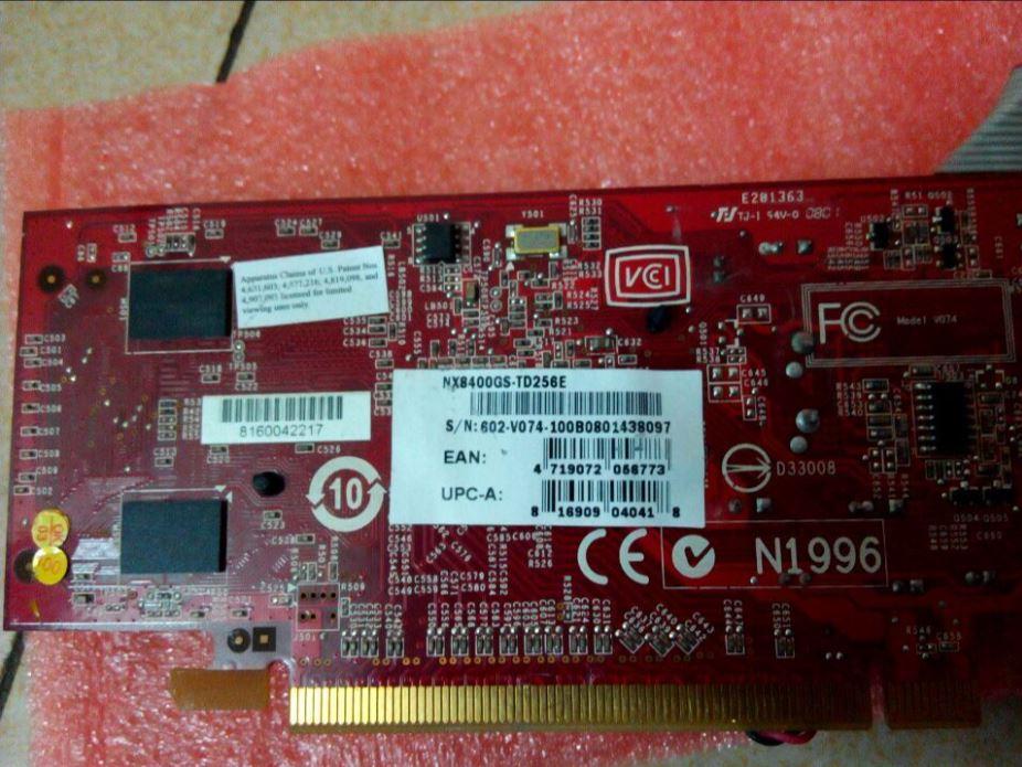 MSI NX8400GS-TD256E Graphics Card PCI-E X16 Video Card Ultrasound Repair  4719072137571