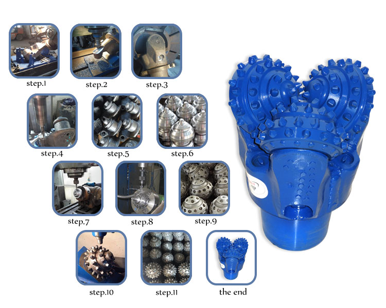 9 1/2 Inch TCI drill bit, water well drilling rotary rock bits, tricone  roller bits