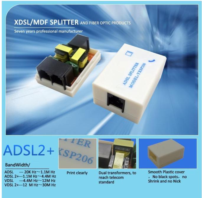 ADSL Splitter ADSL Filter DSL Filter RJ11 with manufacturer prices ...
