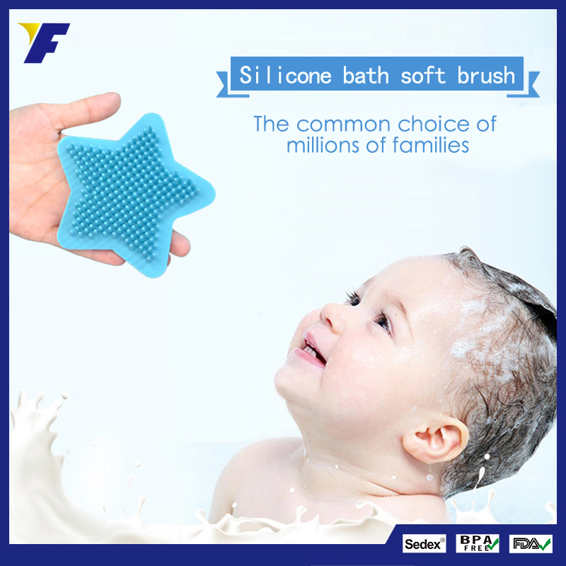 Soft Baby Body Massager Cleaner Silicone Bath Brush purchasing ...