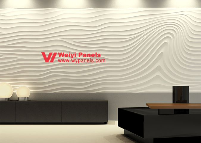 Wall Decor 3D Wall Panels-MDF Wave Boards WY-216 purchasing, souring ...