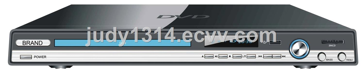 Cheap 2.1ch Home  DVD Player with LCD Display
