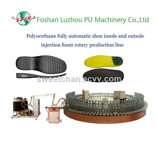 Automatic PU Shoe Soles Injection Machine with Robotic Inject Head