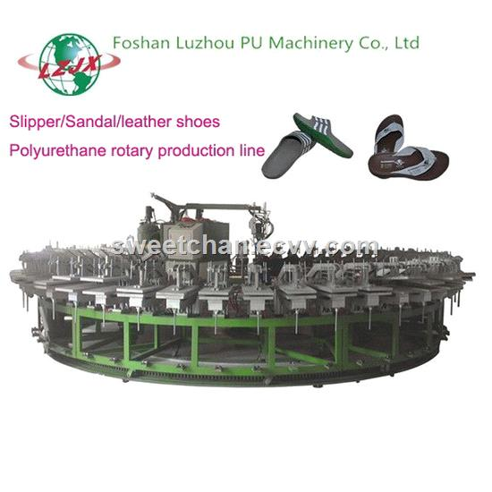 24 Mold Stations PU Shoe Making Machine