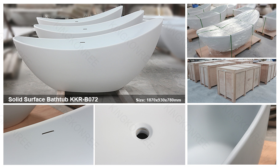 freestanding classic acrylic spa bathtub