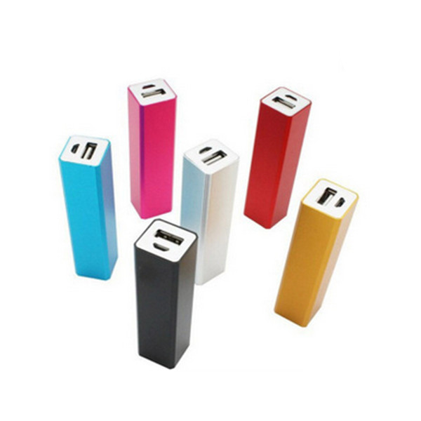 Square tube Power bank chargermobile phone power bank 2200mAh
