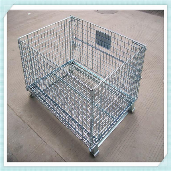 Steel Storage Cage Folding Mesh Container Pallet Security Cage