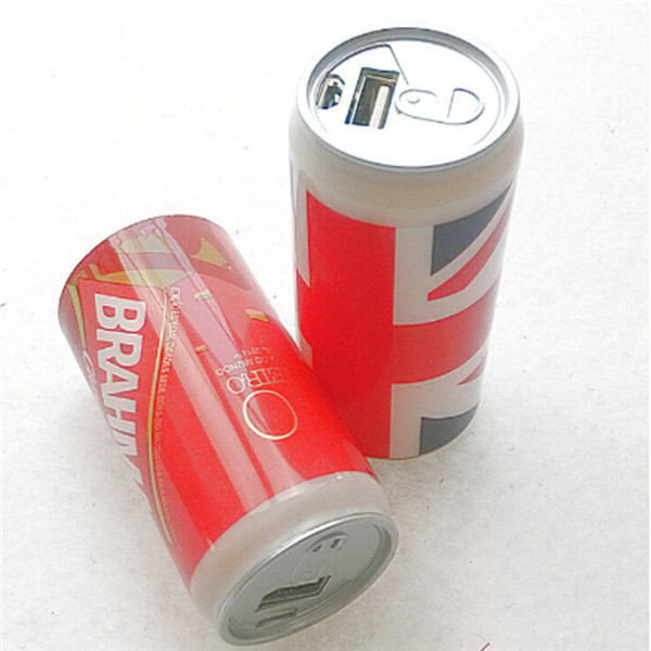Cola can power bank mobile charger 2200mAh