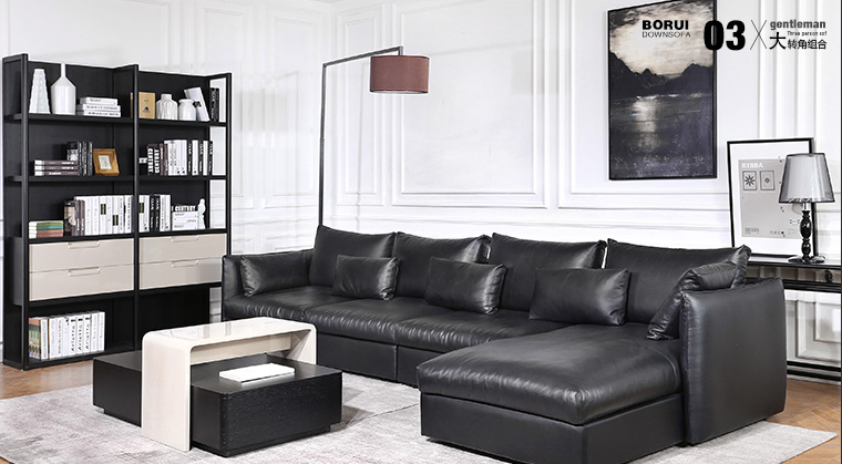 China Lizz Furniture European Modern Style Leather Sofa From