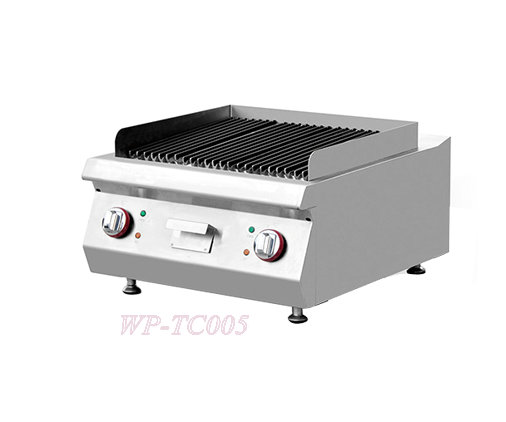 Counter Top Electric Lava Rock Grill Kitchen Equipment