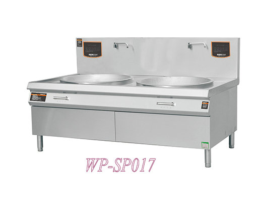 European Style Two Pot Electromagnetic Oven with Wall Mounted Faucet