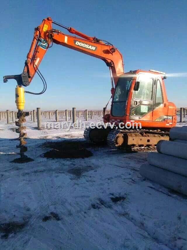Hydraulic Earth Auger/Hole Digging Machine/Ground Hole Drilling Machines