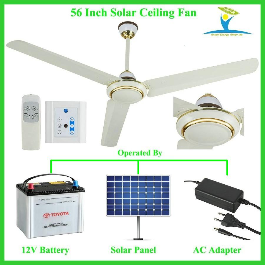 Solar powered ceiling fan dc12v input 340rpm 56 10 years life 10 years life 350rpm 56 solar powered dc12v ceiling fan with bldc motor best for solar aloadofball Gallery