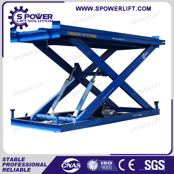 Fixed stationary hydraulic scissor lift platform