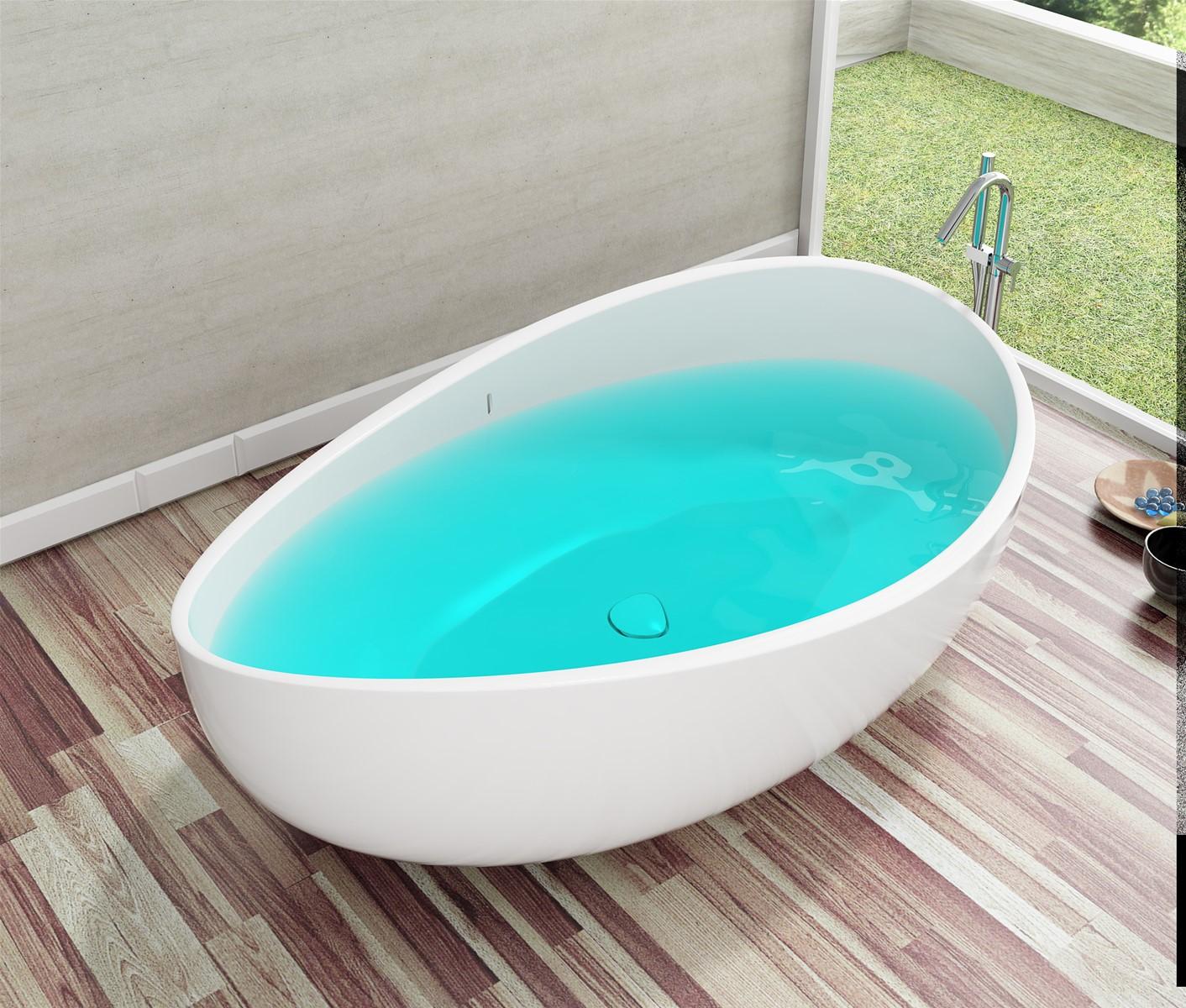 Acrylic Freestanding Bathtub (Onda) Factory & Manufacture purchasing ...