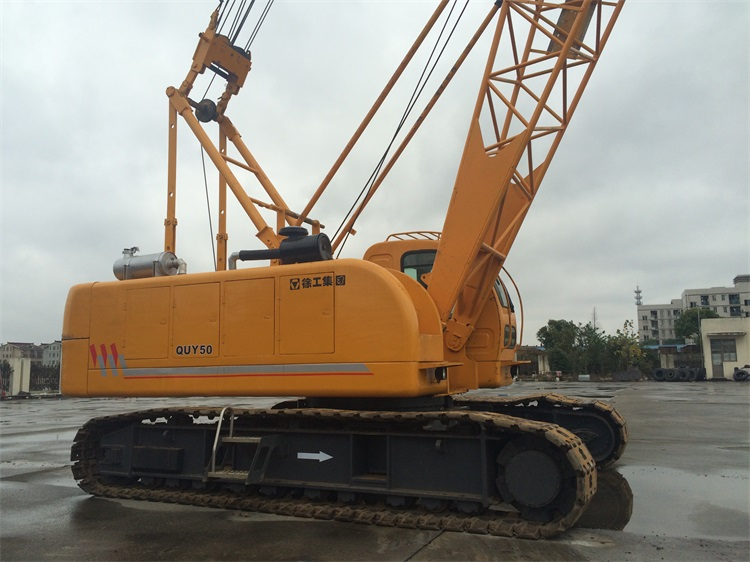 50 Ton Used XCMG Crawler Crane in China, QUY55 2014 Year Crane