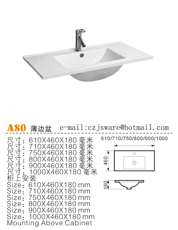 Ceramic Cabinet Basin, Thin Edge Basin, Top Counter Basin Suppliers ...
