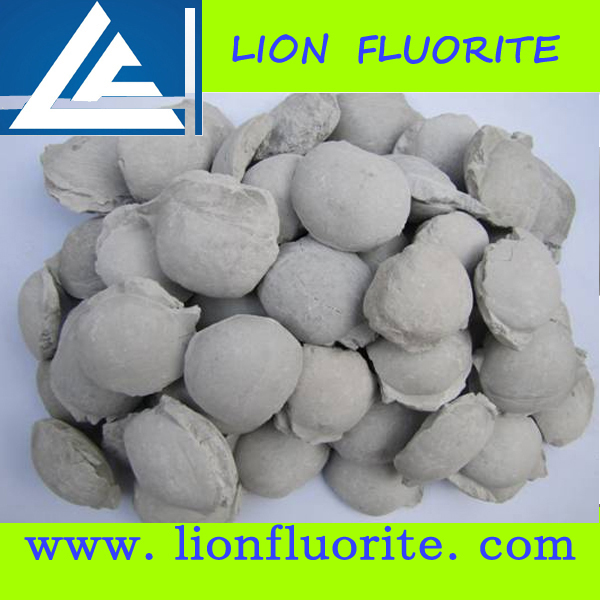 Minetallurgy Industry Mineral CaF2 80% 85% Fluorspar Briquette Used In Steel-Making Industry