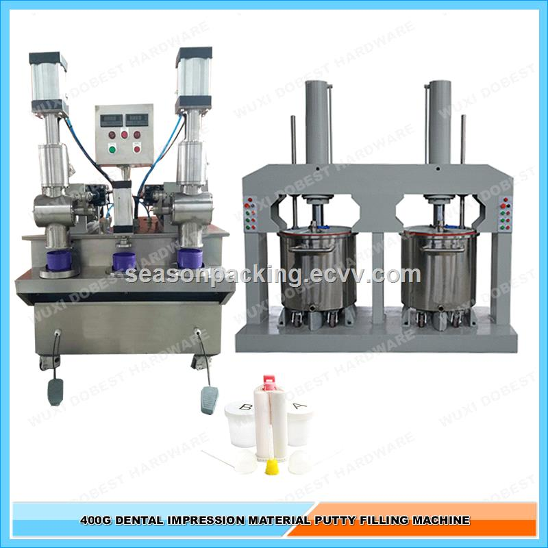 400G Jar Dental Impression Material Silicone Putty Filling Machine