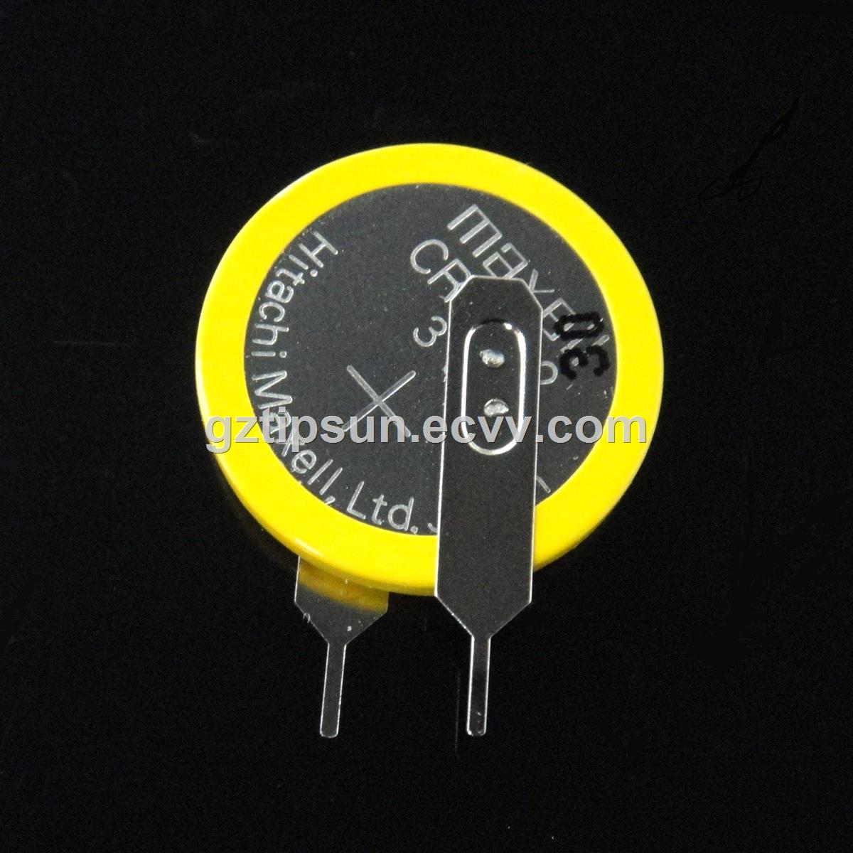 3v Lithium Button Cell Maxell Cr2032 Battery With Solder