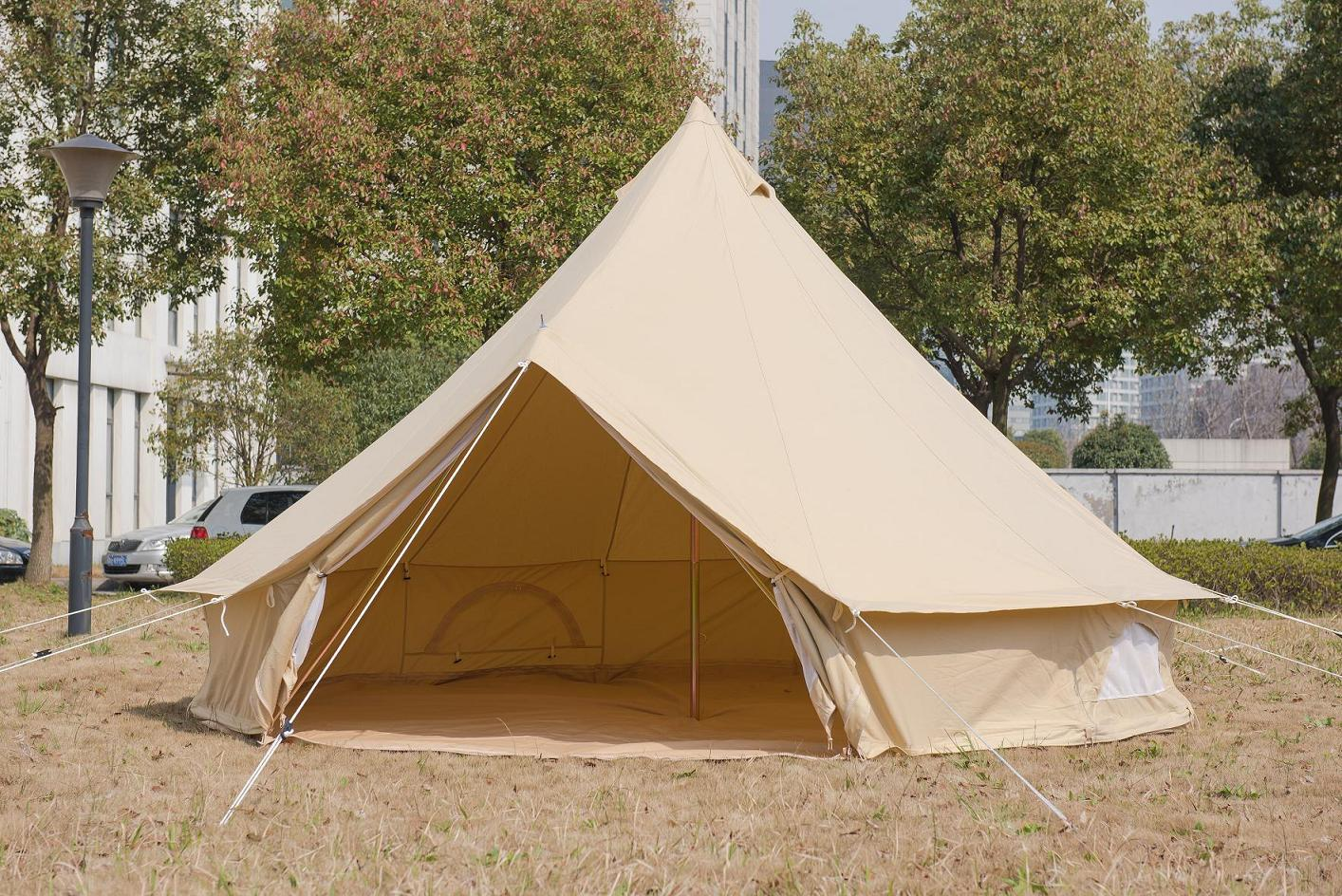 6m canvas bell tent purchasing souring agent for Canvas platform tents
