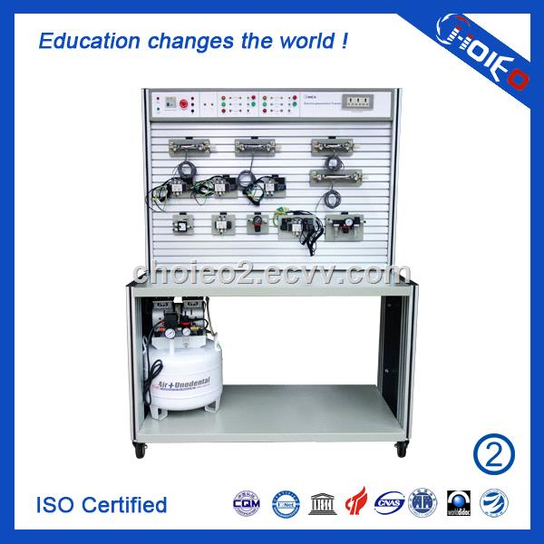 Electro Pneumatic Trainer, Vocational Educational Air-Operated Equipment  Training Set for School Lab