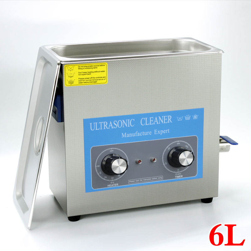 6L 180w Stainless Steel Ultrasonic Cleaner for School Lab