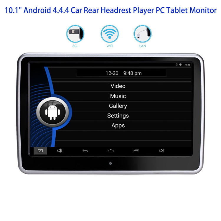 101 Android 444 Car Rear Headrest Player PC Tablet Monitor