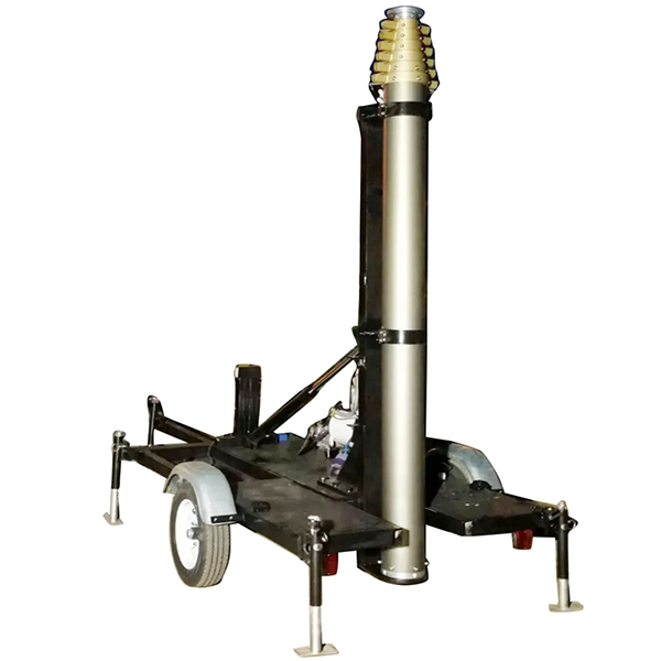 15m Mobile Trailer Mast Tower System (15m Pneumatic