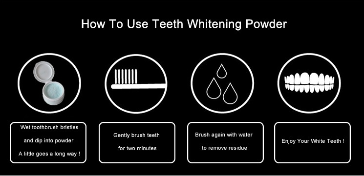 Professional home use 30g bleaching tooth powder teeth whitening powder for sale