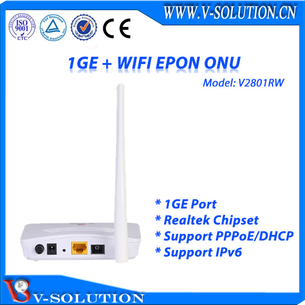 EPON 1GE WiFi ONU with Route Function Support IEEE802 11b/g/n 300Mbps