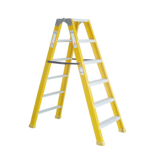 JUNAI POWER Wide Step Fiberglass Folding FRP Ladder