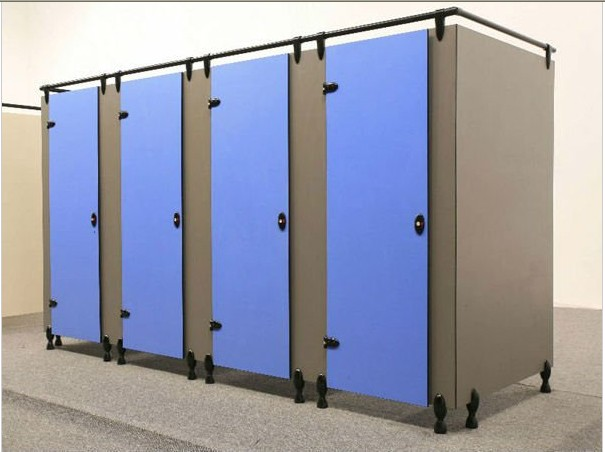 Waterproof Compact Laminate Toilet Cubicle System ...