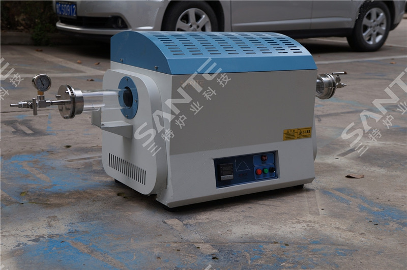 1200c quartz tube electrc furnace for lab heat treatment