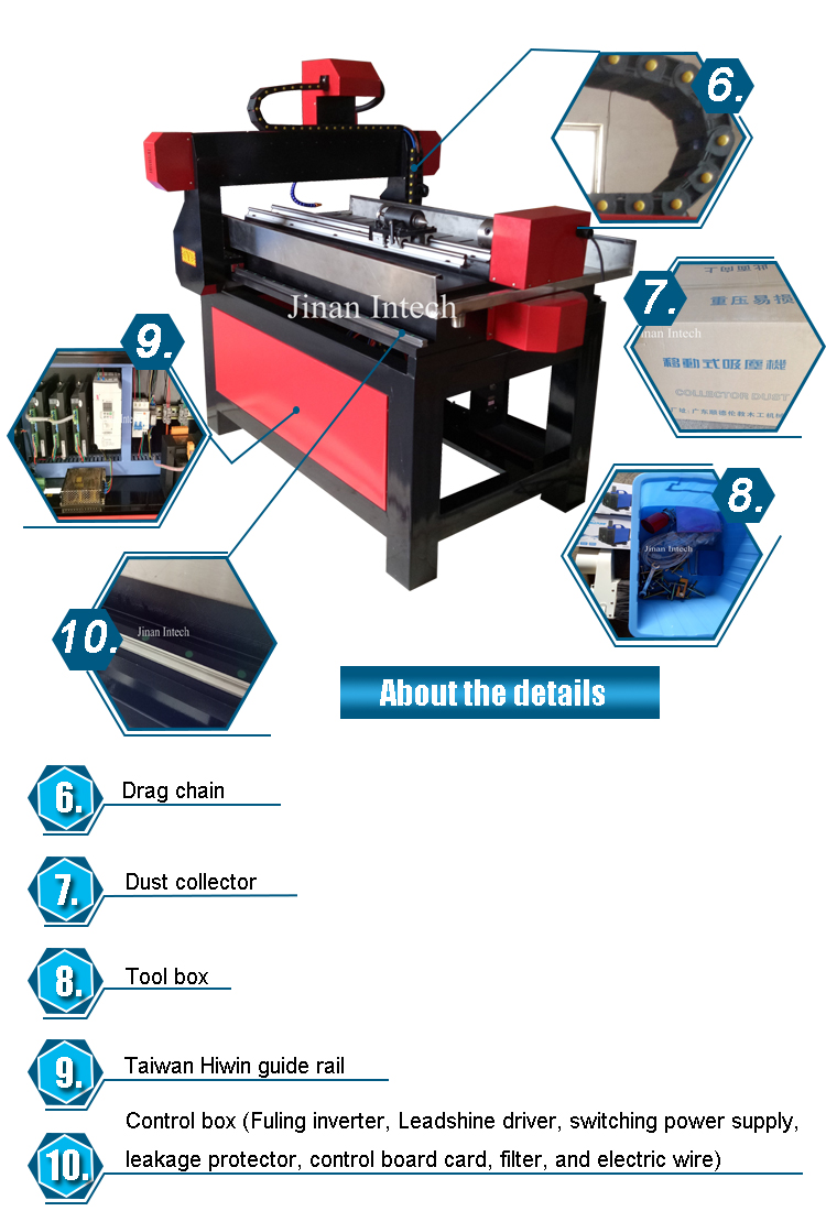 High Efficiency 600900mm wood CNC router machine