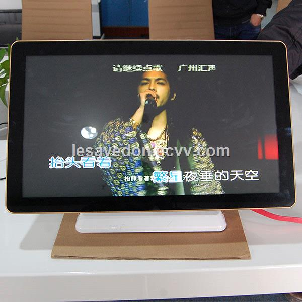 LASVD Prime quality 215 inch capacitive touch screen KTV monitor karaoke player