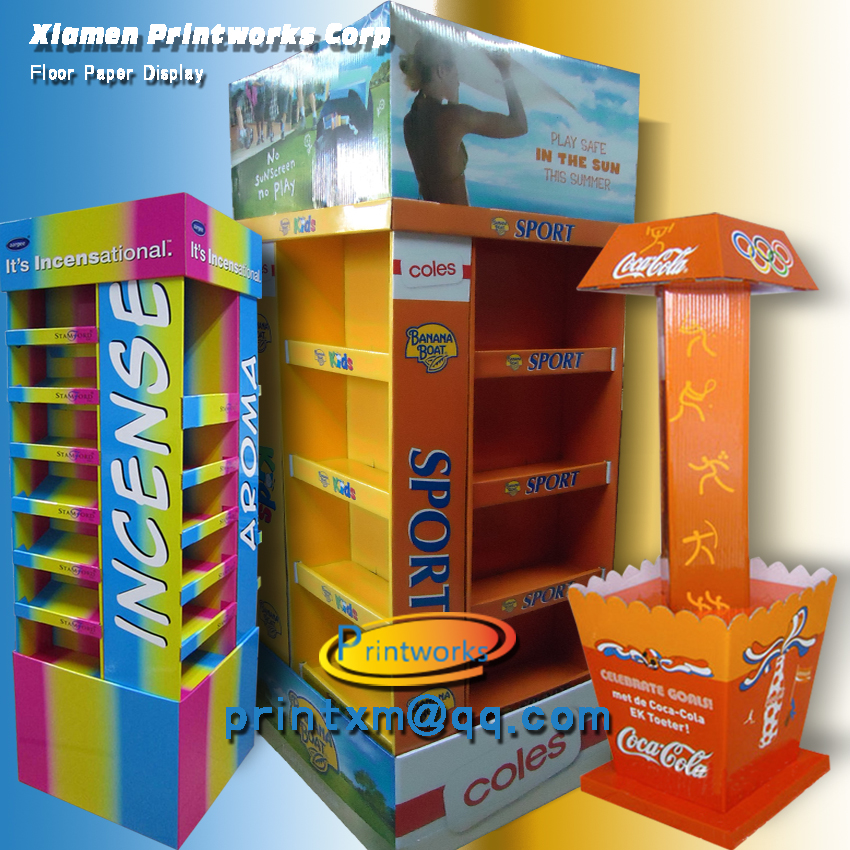 Cardboard Display Rack, Pallet Display for Goods Promotion